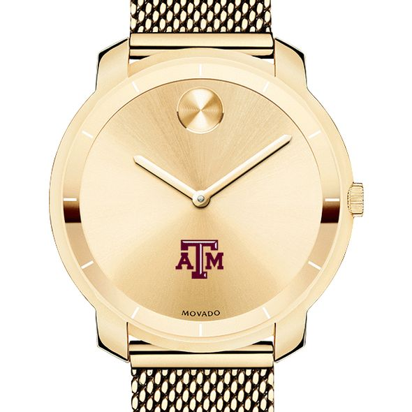 Texas A&M University Women's Movado Gold Bold 36