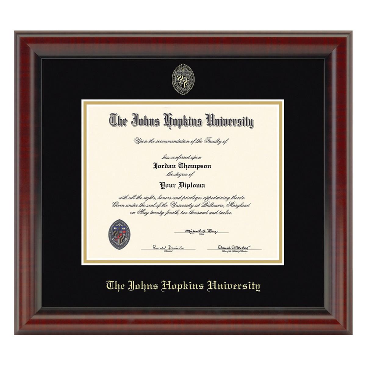 Johns Hopkins Fidelitas Diploma Frame At M Lahart Amp Co