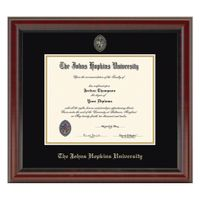 Johns Hopkins Fidelitas Diploma Frame