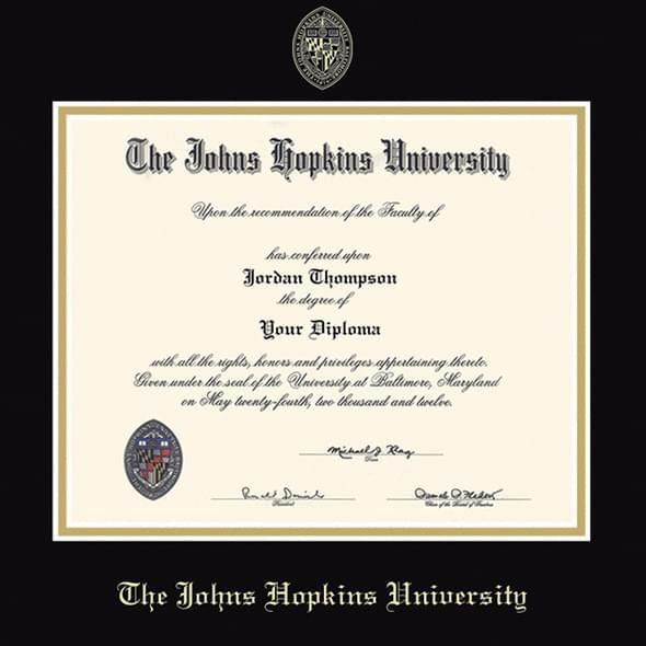 Johns Hopkins Fidelitas Diploma Frame - Image 2