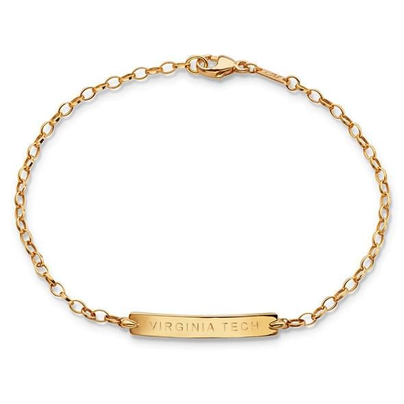 Virginia Tech Monica Rich Kosann Petite Poesy Bracelet in Gold - Image 1