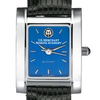 USMMA Women's Blue Quad Watch with Leather Strap