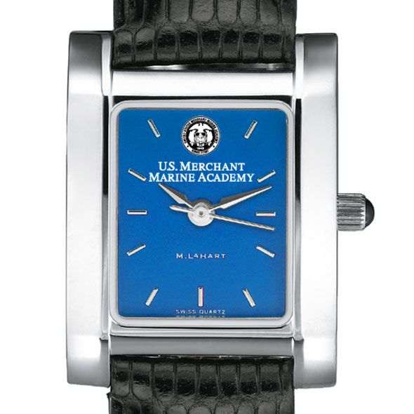 USMMA Women's Blue Quad Watch with Leather Strap - Image 1