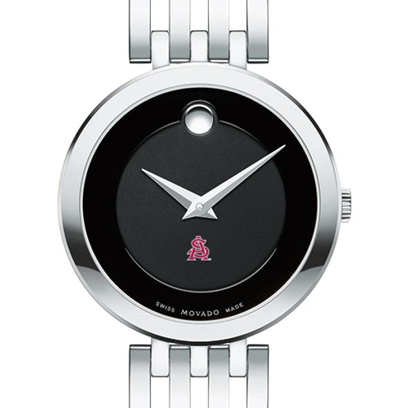 Arizona State Women's Movado Esparanza Stainless Steel Museum with Bracelet - Image 1