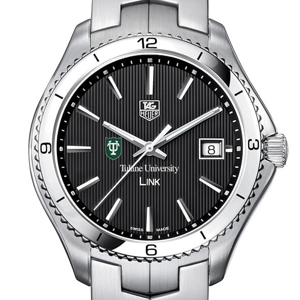 Tulane Men's Link Watch with Black Dial