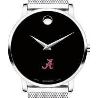 University of Alabama Men's Movado Museum with Mesh Bracelet