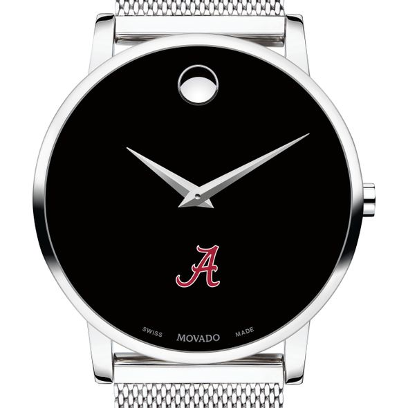 University of Alabama Men's Movado Museum with Mesh Bracelet - Image 1