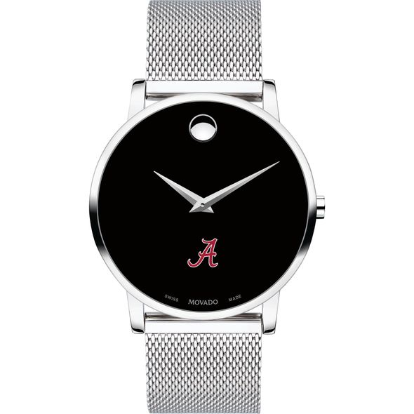 University of Alabama Men's Movado Museum with Mesh Bracelet - Image 2