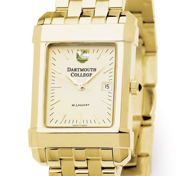 Dartmouth Men's Gold Quad Watch with Bracelet