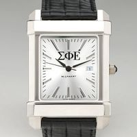 Sigma Phi Epsilon Men's Collegiate Watch with Leather Strap