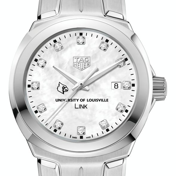 University of Louisville TAG Heuer Diamond Dial LINK for Women