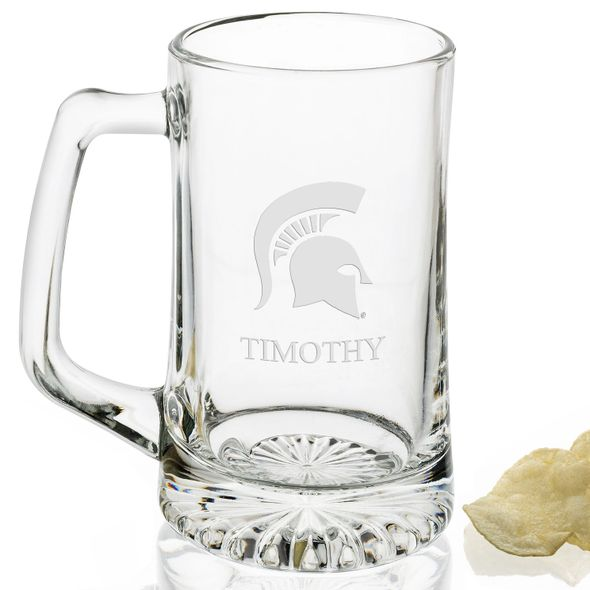 Michigan State 25 oz Beer Mug - Image 2