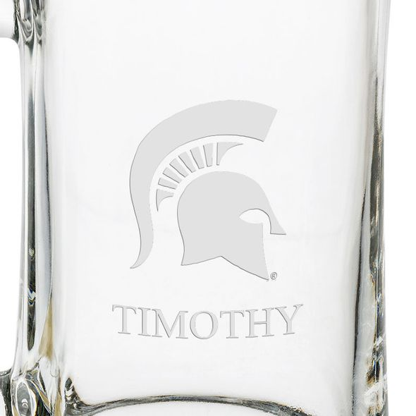 Michigan State 25 oz Beer Mug - Image 3