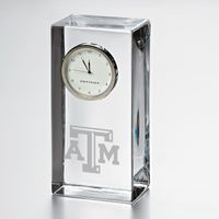 Texas A&M Tall Desk Clock by Simon Pearce