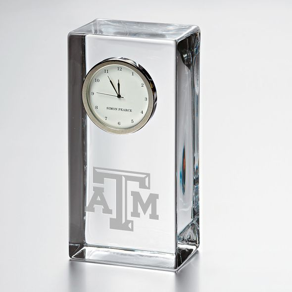 Texas A&M Tall Desk Clock by Simon Pearce