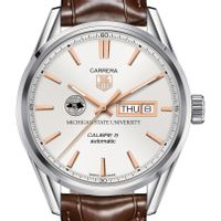 Michigan State University Men's TAG Heuer Day/Date Carrera with Silver Dial & Strap