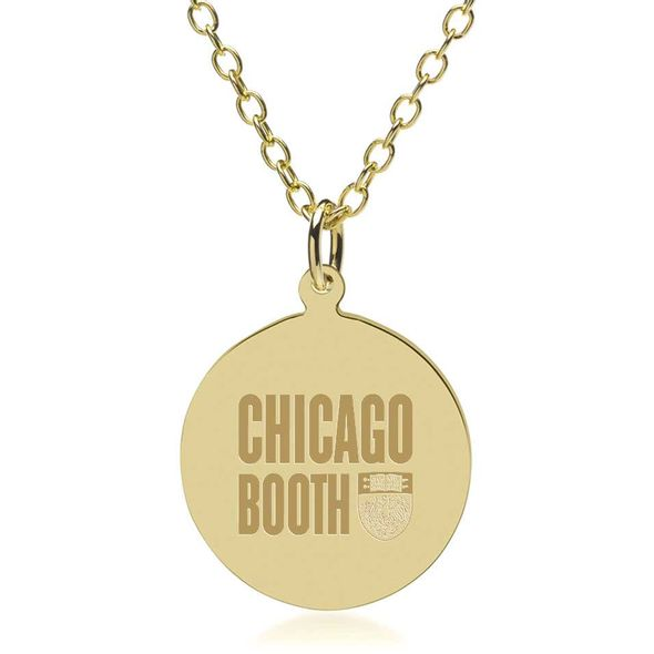 Chicago Booth 14K Gold Pendant & Chain - Image 1