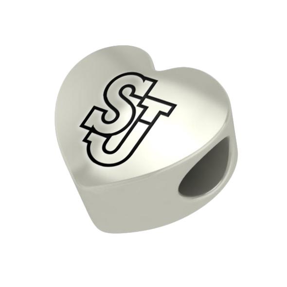 St. John's University Heart Shaped Bead