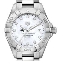 Baylor University W's TAG Heuer Steel Aquaracer w MOP Dia Dial