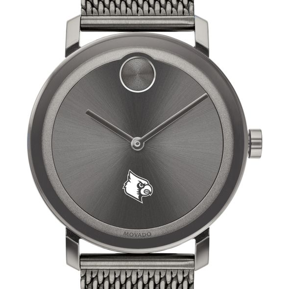 University of Louisville Men's Movado BOLD Gunmetal Grey with Mesh Bracelet - Image 1