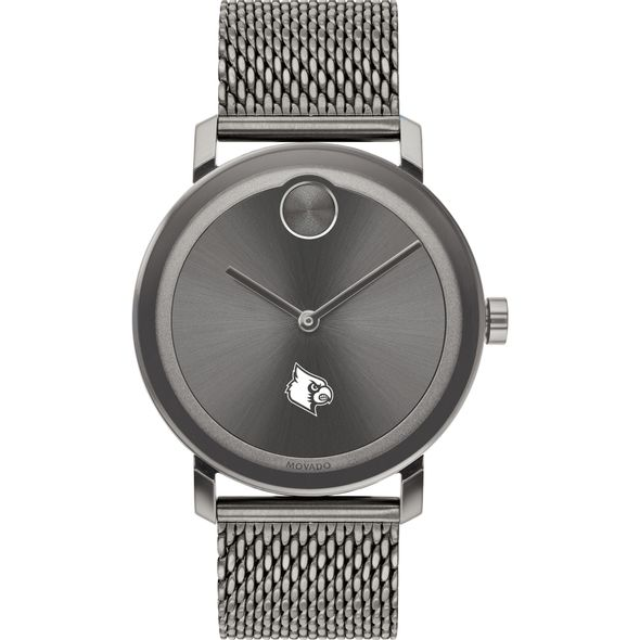 University of Louisville Men's Movado BOLD Gunmetal Grey with Mesh Bracelet - Image 2