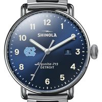 UNC Shinola Watch, The Canfield 43mm Blue Dial