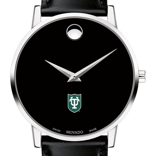 Tulane University Men's Movado Museum with Leather Strap