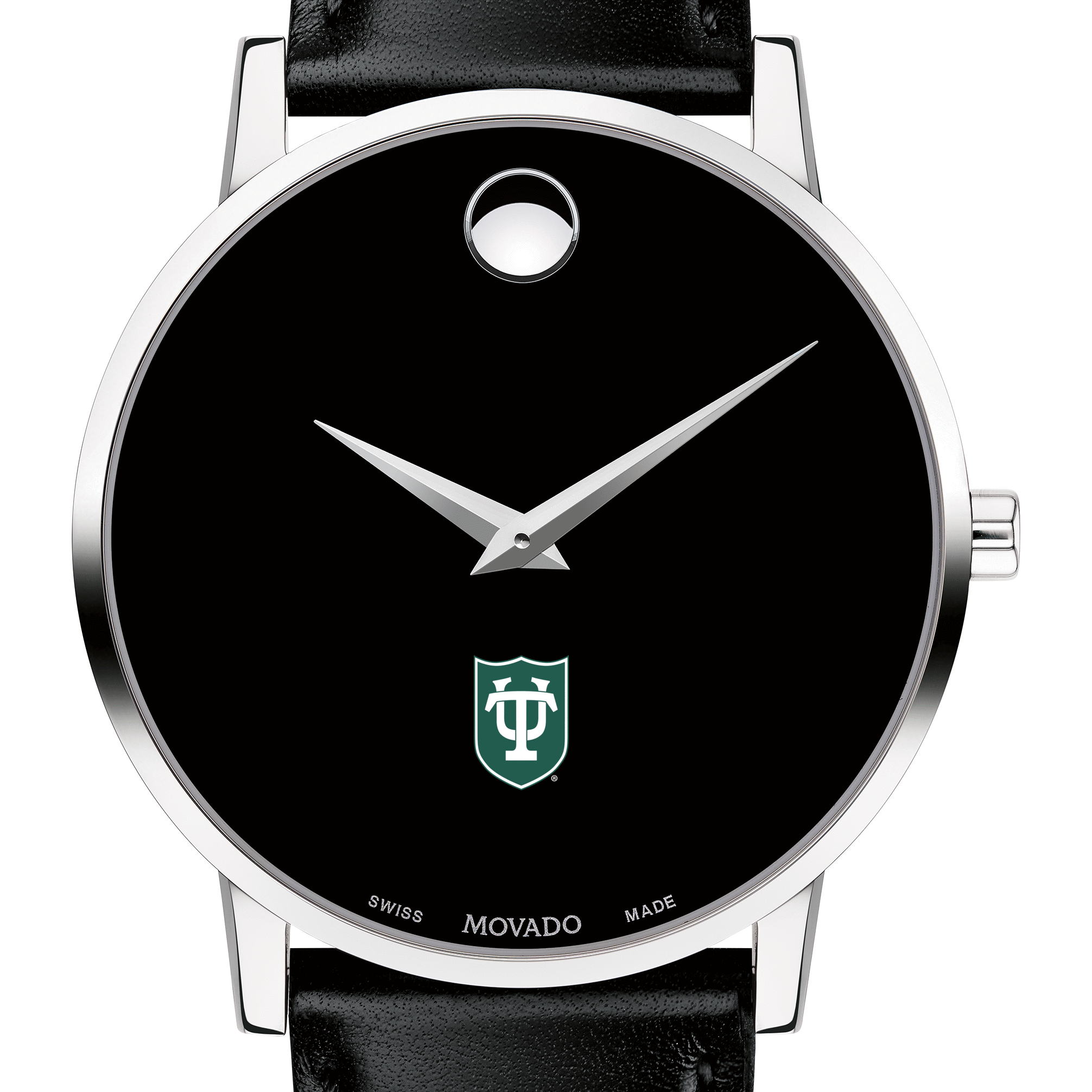 Tulane Men's Movado Museum with Leather Strap