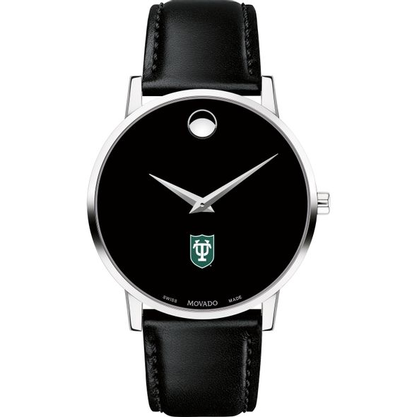 Tulane University Men's Movado Museum with Leather Strap - Image 2