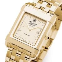 William & Mary Men's Gold Quad Watch with Bracelet