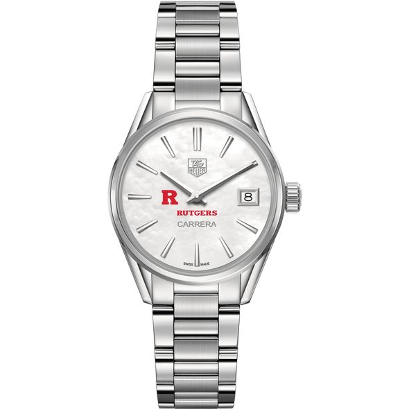 Rutgers University Women's TAG Heuer Steel Carrera with MOP Dial - Image 2