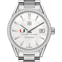 Miami Women's TAG Heuer Steel Carrera with MOP Dial & Diamond Bezel