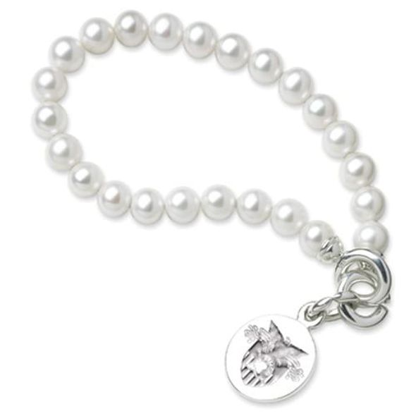 West Point Pearl Bracelet with Sterling Silver Charm - Image 1