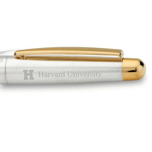 Harvard University Fountain Pen in Sterling Silver with Gold Trim - Image 2