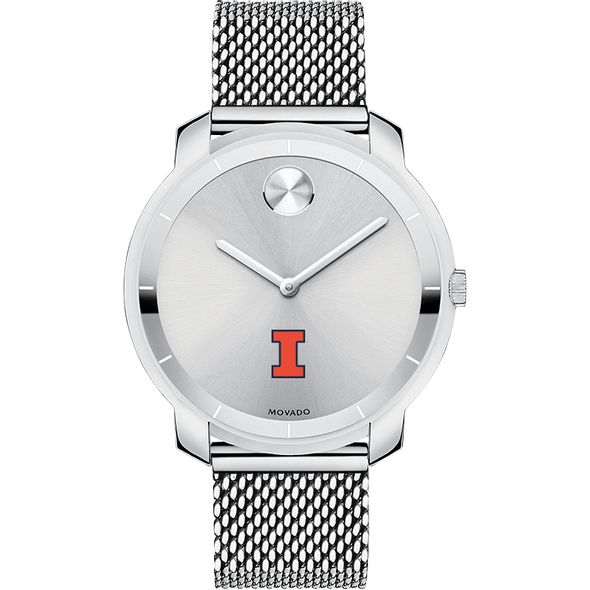 University of Illinois Women's Movado Stainless Bold 36 - Image 2