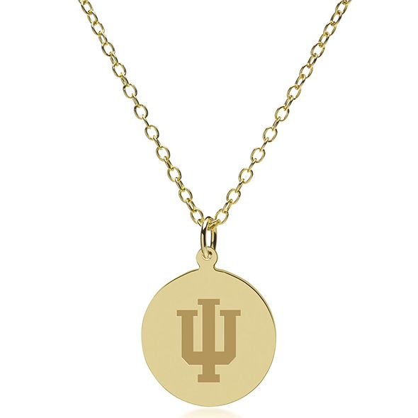 Indiana University 14K Gold Pendant & Chain - Image 2