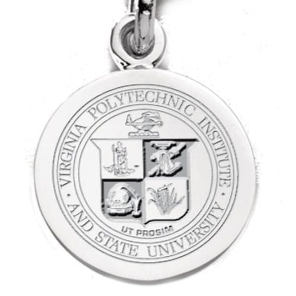 Virginia Tech Sterling Silver Charm