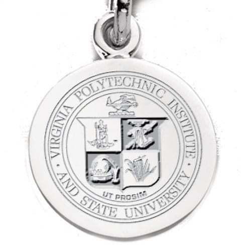 Virginia Tech Sterling Silver Charm
