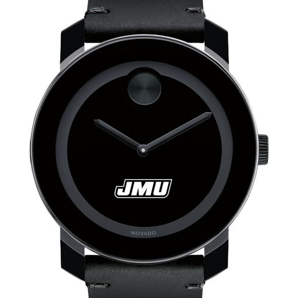 James Madison University Men's Movado BOLD with Leather Strap