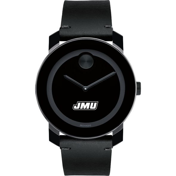 James Madison University Men's Movado BOLD with Leather Strap - Image 2
