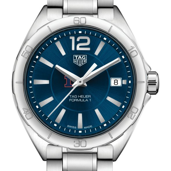 University of Illinois Women's TAG Heuer Formula 1 with Blue Dial - Image 1