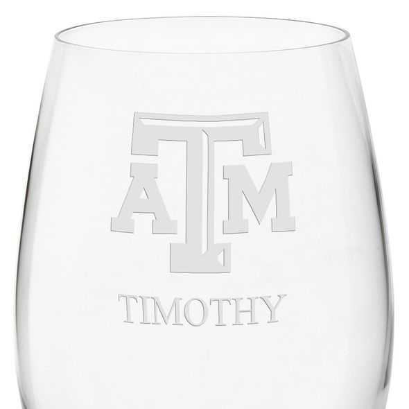 Texas A&M University Red Wine Glasses - Set of 2 - Image 3