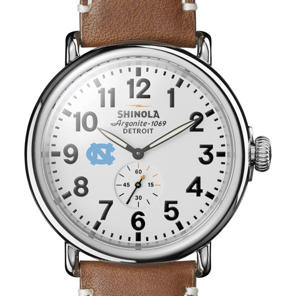 UNC Shinola Watch, The Runwell 47mm White Dial