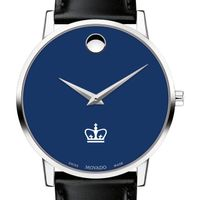 Columbia University Men's Movado Museum with Blue Dial & Leather Strap