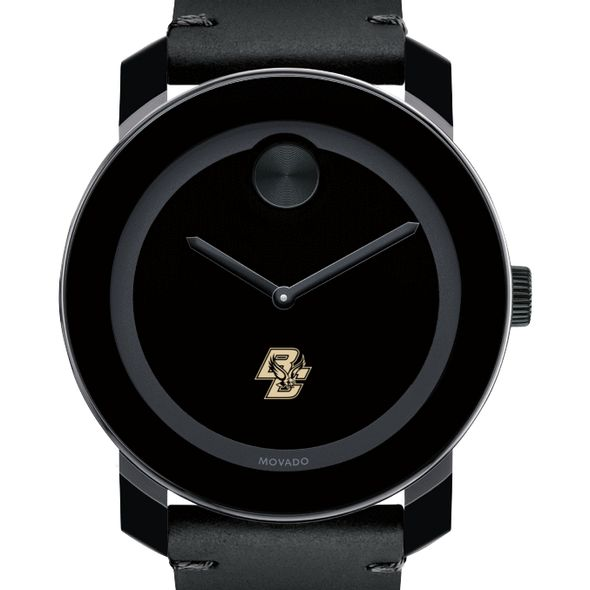 Boston College Men's Movado BOLD with Leather Strap - Image 1