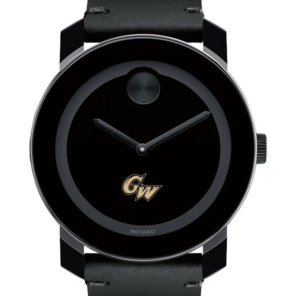 George Washington University Men's Movado BOLD with Leather Strap
