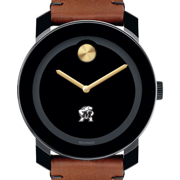 University of Maryland Men's Movado BOLD with Brown Leather Strap