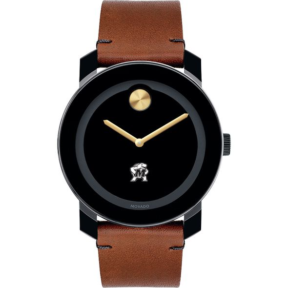University of Maryland Men's Movado BOLD with Brown Leather Strap - Image 2