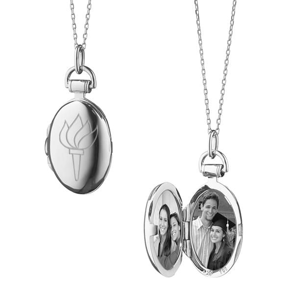 NYU Monica Rich Kosann Petite Locket in Silver - Image 2