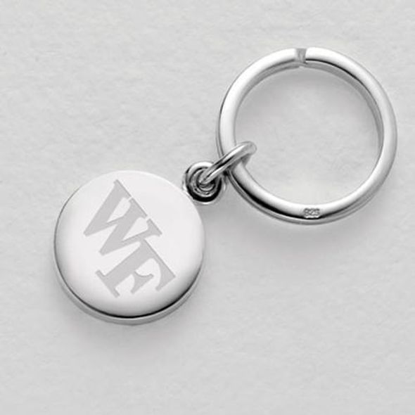 Wake Forest Sterling Silver Insignia Key Ring